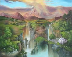 """""""Wassergraben"""" Acrylbild"""