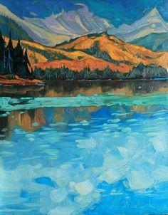 "St. Elias Mountains during September.  14"" x 11"" oil on board  #Alaska #pleinair #art #oilpainting #wilderness #adventure"