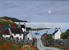 British Artist David BARNES-The Harbour