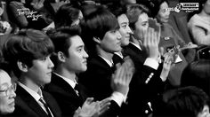 kai's clapping overdose style... chanhun dying... (I had to repin this! They are so childish! XD)
