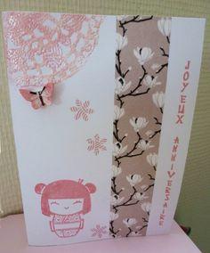 carte inspiration japonaise chibi kawai