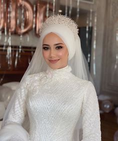 Image may contain: one or more people, people standing and wedding Source by Bridal Hijab, Hijab Bride, Wedding Hijab, Wedding Suits, Hair Wedding, Purple Wedding, Wedding Cakes, Muslimah Wedding Dress, Muslim Wedding Dresses