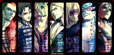The Assassins- La Squadra Jojo's Bizarre Adventure, Purple Haze, Jojo Bizarre, Beautiful Men, Joker, Animation, Fan Art, Manga, Cool Stuff