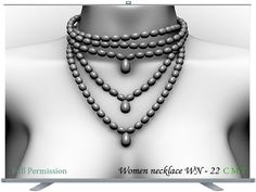 Women necklace WN - 22 Full Permission AO UV included You can not sell or transfer the right to resell or transfer. Pearl Necklace, Beaded Necklace, Pearls, Chain, Jewelry, Women, Fashion, String Of Pearls, Beaded Collar