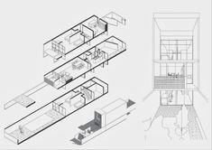 Siedlung Halen, Atelier 5 Architecture Student, Architecture Drawings, Concept Architecture, Interior Architecture, Co Housing, Social Housing, Visual Communication Design, Floor Plan Drawing, Concept Diagram