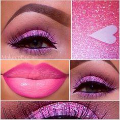 Don't really like the eyeshadow but I DO like the lipstick/lipgloss/ I Love Makeup, Gorgeous Makeup, Beauty Makeup, Makeup Looks, Eye Makeup, Hair Makeup, Purple Makeup, Amazing Makeup, Purple Hair