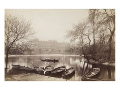 Vintage Photo - Buckingham Palace from St. James' Park; c.1875, London, England.