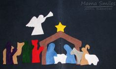 Kids love nativity scenes! This DIY felt nativity is easy to make and a wonderful child-proof way for kids to re-enact the Christmas story. via @mamasmiles