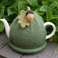 Acorn Tea Cosy, Autumn Teacosy, Fall Teapot Cozy