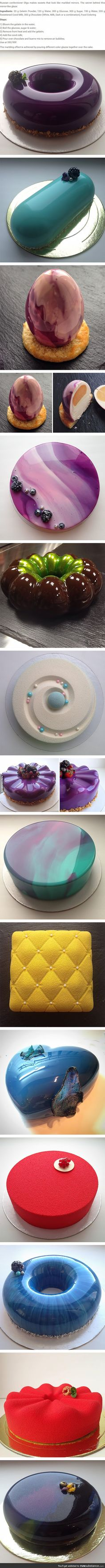 Cakes With This Mirror Finish Are Too Perfect To Be Eaten