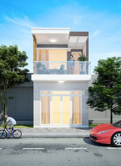 2 Storey House Design, House Front Design, Small House Design, Cool House Designs, Modern House Design, Modern Brick House, Small House Exteriors, Home Building Design, Building A House