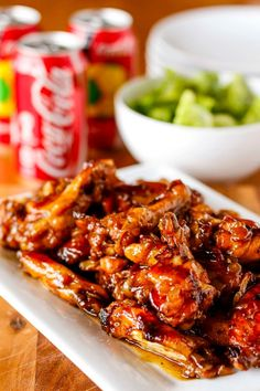 Best Coca Cola Recipes - Coca Cola Baked Chicken Wings - Make Awesome Coke Chicken, Coca Cola Cake, Meatballs, Sodas, Drinks, Sweets, Dinners, Meat, Slow Cooker and Recipe Ideas With Cake Mixes - Fun Food Projects For Families and Parties With Step By Step Tutorials http://diyjoy.com/coca-cola-recipes