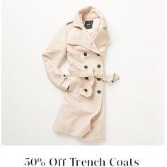 50% Off on Trench Coats @ Jacqui E. - Bargain Bro