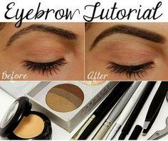 Perfect Eyebrows & Eyebrow Tutorial With Eyebrow Shapes