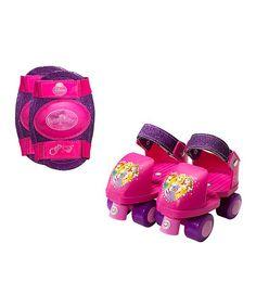 Another great find on #zulily! Disney Princess Glitter Roller Skates & Knee Pads - Kids #zulilyfinds