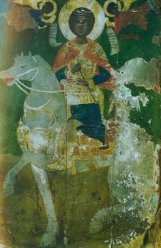"""The ancient icon of Black St. George of Symvoulas was found in June 1992 within a cave, belonging to a British military base, near the sea, of the deserted """"Monastery of Christ of Symvoulas. Black History, Art History, Saint George And The Dragon, Black Jesus, Russian Icons, Byzantine Art, We Are The World, Historical Images, Religious Icons"""