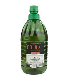 Aceite de Siurana, Les Sorts, 2 l. De color verde vivo, aromático e intensa nariz, con recuerdos herbáceos, de alcachofa y tomate. En boca es frutal, suave y fresco, de paso no muy untuoso, con leves recuerdos de manzana y hierba fresca. http://www.porprincipio.com/aceites/33-aceite-de-siurana.html#