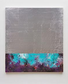 deepchord, 2016 aluminum foil, oil paint mounted on wood panel 84 x 76 inches x cm) Artist: Hugo McCloud. Multimedia Artist, Urban Landscape, Wood Paneling, Nativity, Oil, Painting, Inspiration, Atelier, Painting Art