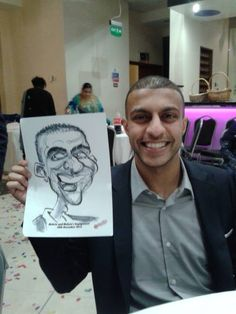 A HECTIC TIME was had by all at this Indian engagement party in London where I was drawing caricatures of the guests. Caricatures at Engagement Party - Caricatures and Cartoons by Simon Ellinas