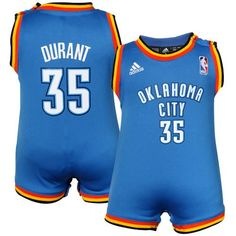 How cute is this?! OKC Thunder baby jersey onesie!