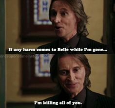 Yep. The old Rumple is back.  Is it bad tht i laughed at tht part? I don't want him to kill any of them, I just thought it was funny... yeah tht prolly makes me a bad person..