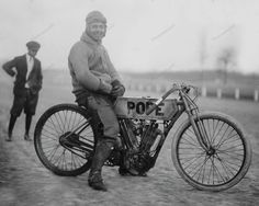 Motorcycle Racer Ready 1915 Vintage 8x10 Reprint Of Old Photo