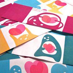 Printable Monster Valentines holiday, printable cards, printabl valentin, valentine day cards, valentine cards, free printabl, little monsters, card candy, card tutorials