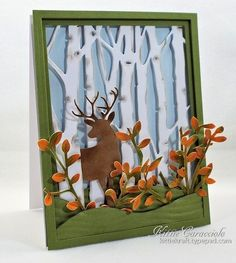 Apply Pumice Stone ink on the edges and die cut markings on the birch trees with a mini applicator. Description from tayloredexpressions.blogspot.com. I searched for this on bing.com/images