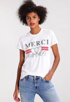 Topshop MERCI - T-shirt con stampa - white - Zalando.it