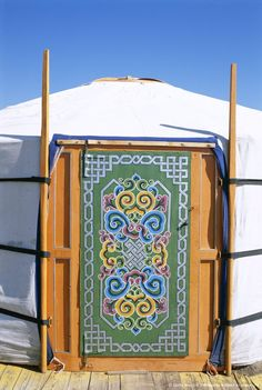 Mongolian Nomadic Yurt (ger).  Gers are traditional Mongolian homes and have been in Ulaanbaatar since the 17th century, easily portable rounded wooden structures covered by a heavy felt blanket and heated by a stove in the center of the structure.
