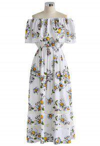 Daisy Flair Frilling Off-shoulder Maxi Dress