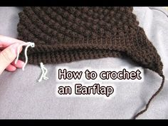 ▶ How to Crochet Ear Flaps onto a Hat - Crochet Tutorial - YouTube