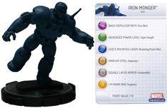 Iron Monger - 2-12 (Iron Man Armor Wars) - Iron Man Armor Wars Mega Battle Pack - HeroClix - Superhero Genre RPGs - RPGs by Genre - D & RPGs
