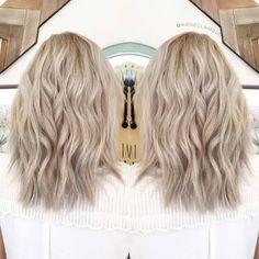 Image result for medium ash blonde with white highlights