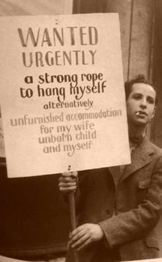 unknown man during the Depression, circa 1932 by jayne