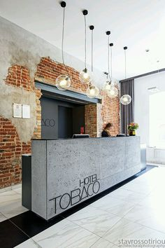 Modern Reception Desks Design Inspiration – The Architects Diary: – Modern Corporate Office Design