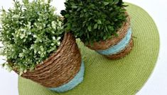 how to upcycle cheap flower pots, container gardening, crafts, gardening, Project via April House by Hoff . These rope wrapped planters are an easy way toadd some texture to cheap terra cotta pots! Large Flower Pots, Plastic Flower Pots, Plastic Planter, Modern Plant Stand, Diy Plant Stand, Dollar Store Crafts, Dollar Stores, Sisal, Garden Frogs