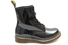 DR MARTENS 1460 Lamper Boots  BLACK PATENT