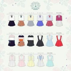 "Lovelyz ""Ah-Choo"" paper doll outfits"