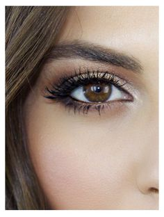 Beautiful brown eye makeup