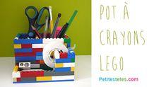 Pot à crayons en légo pour les bureaux des enfants