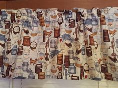 Country Store Kitchen Valance ~ 42 Inches Wide by CheriesSewCrafty on Etsy