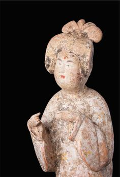 Tang Dynasty Terracotta Fat Lady, 618 AD to 906 AD, high. Terracota, Clay Tiles, China Art, Chinese Ceramics, Cute Little Things, Ancient China, London Art, Fat Lady, Pottery
