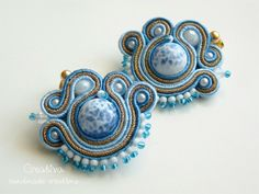 Soutache mini earrings