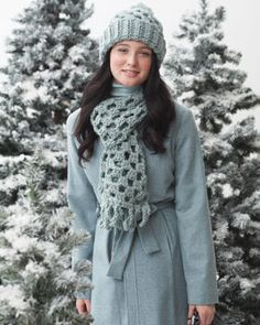This granny-inspired hat and scarf is the perfect gift set to shine beside a great winter coat.