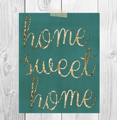 Home Sweet Home  Printable Art  Instant by ScubamouseStudiosJr, $5.00
