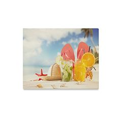 Canvas Print Summer Starfish Flip Flop on Beach Modern Wall Art for Home Room Office Decoration inch) Christmas Pictures With Lights, Modern Wall Art, House Rooms, Starfish, Home Art, Poster Prints, Canvas Prints, Led, Decoration