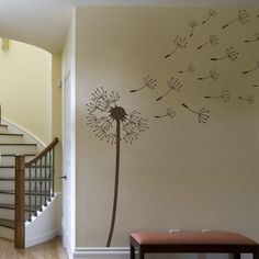 Dandelion Blowing in the Wind Wall Decal Extra by lewasdesigns, $60.00