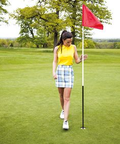 Summer ladies golf fashion -Sleeveless Shirt, £40, Skort, £53.50 loudmouthgolf.com Shoes: LoPro Casuals, £87.50 footjoy.co.uk