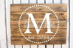 Custom Wood Sign, Established Wood Sign, Wedding, Bridal shower, Personalized Family Name sign, Barn wood sign, Mother's Day, Mother Day on Etsy, $50.00